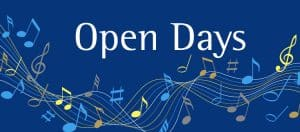 See when our next music open day is taking place