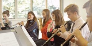 Woodwind ensemble practising