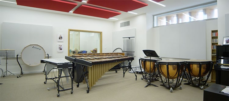 Percussion Room in Cedars Hall