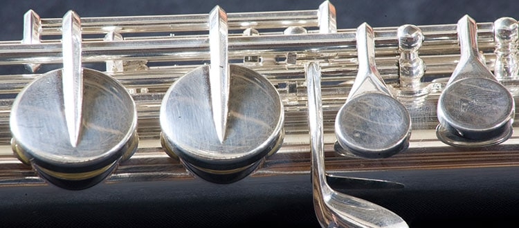 Close-up of a flute