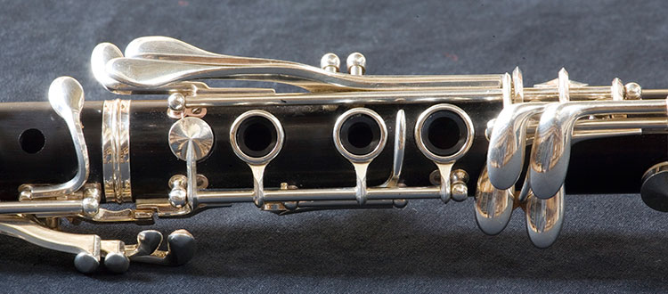 Close-up photo of a clarinet