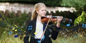 Wells Cathedral School student playing the violin