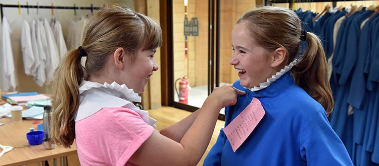 Two Wells Cathedral Chorister Girls preparing