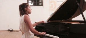 Nina, pianist at Wells Cathedral School