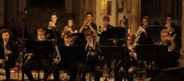 Big Band performing in Wells Cathedral