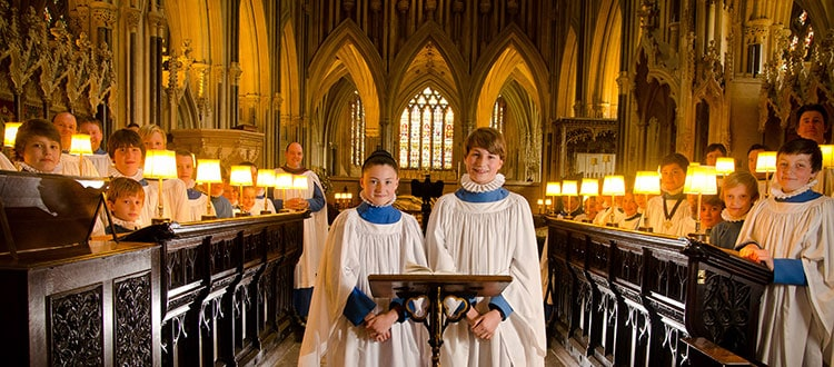 Choristers in the Cathedral