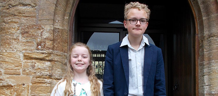 Talented Trumpet Playing Brother and Sister Help Herald Queen's 90th Birthday Celebrations