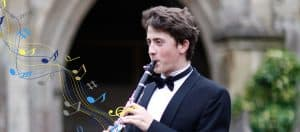 Wells Cathedral School student playing the clarinet.