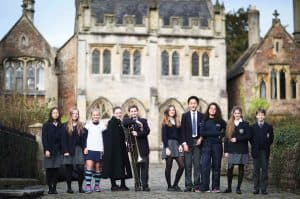 Group of Senior School Students on Vicars' Close by the Close Chapel