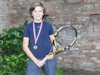 Harry, Cheddar Tennis Club champion