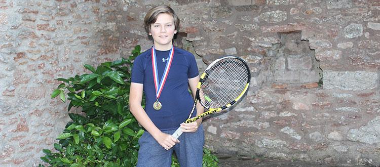 Harry, Cheddar Tennis Club champion