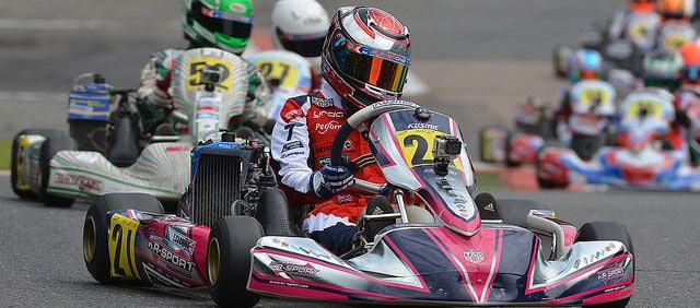 Tom racing at European Karting Championships