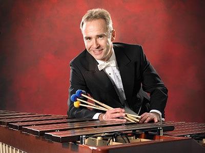 Nebojsa Jovan Zivkovic with a marimba
