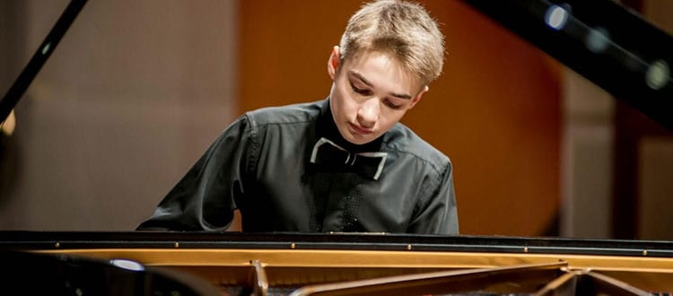 Nikita, first place winner in the piano section of the London International Music Competition
