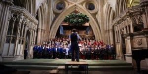 Children performing at Christmas Concert