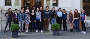 Group of students on Geneva Trip