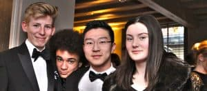 Students at the Tonks Memorial Dinner