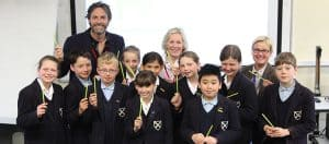 Share-a-Pencil launch at Wells Cathedral School with Tessa Munt