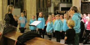 Song Squad rehearsing at Wells Cathedral
