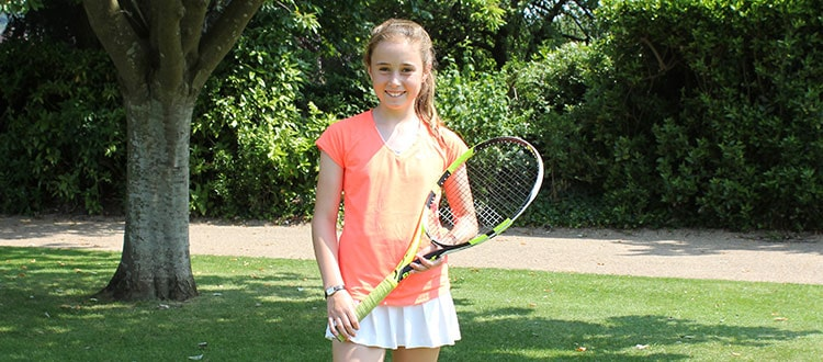Mimi, U12 Somerset Tennis Player