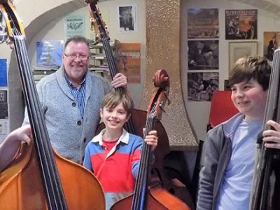 Double Bassists at Wells Cathedral School
