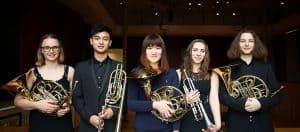 Brass ensemble in Cedars Hall