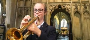 Chorister playing 'The Last Post'
