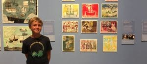 Y 6 student at the National Gallery