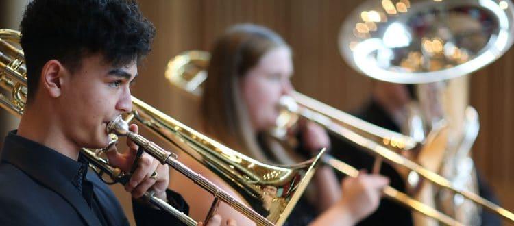 Trombone and tuba players