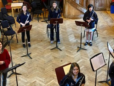 Flautists taking part in the Furstenau Challenge