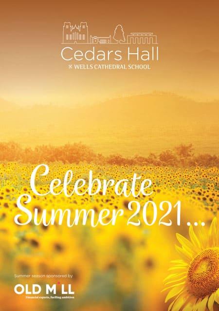 2021 Summer Cedars Hall Brochure Cover