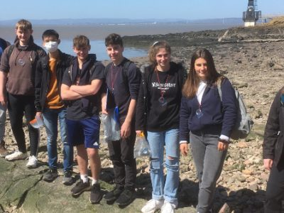 L6 Geology Trip to Portishead team photo 2021