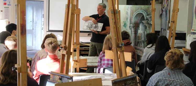 Ian Murphy, Art Workshop hosted at our independent school in Somerset